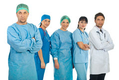 Mid adult surgeon and his team Royalty Free Stock Photography