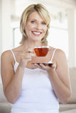 Mid Adult Woman Holding Tea Cup Royalty Free Stock Images