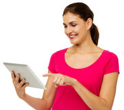 Mid Adult Woman Using Digital Tablet Stock Images
