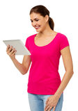 Mid Adult Woman Using Digital Tablet Stock Photos