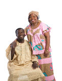 Mid Age African American Couple with Colorful Costume Portrait o Royalty Free Stock Image