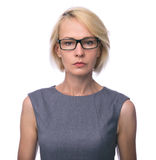 Mid age business woman in glasses Stock Images