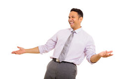 Mid age businessman laughing Royalty Free Stock Photography