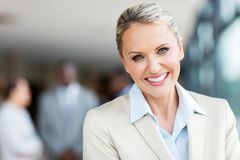 Mid age businesswoman Stock Photography
