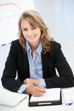 Mid age businesswoman at work Stock Image
