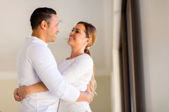 Mid age couple embracing Royalty Free Stock Image