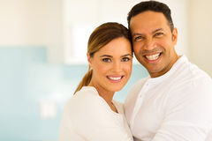Mid age couple hugging Stock Photo