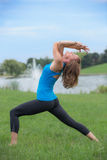 Mid Age Fitness Trainer Woman Outdoor Stock Photography