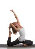 Mid-Age Healthy Looking Female Practicing Yoga Stock Photos