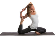 Mid-Age Healthy Looking Female Practicing Yoga Royalty Free Stock Photo
