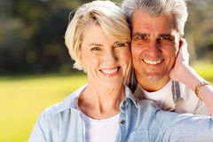 Mid age husband wife Royalty Free Stock Image