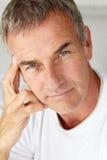 Mid age man portrait. Portrait of mid age man head and shoulders Stock Images