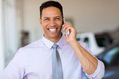 Mid age man smart phone royalty free stock photography
