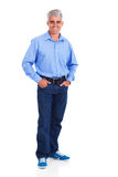 Mid age man. Smiling mid age man standing on white background Royalty Free Stock Photo