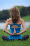 Mid Age Woman Yoga Pose Outddoor Stock Photos