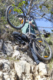 Extreme mountain biking Royalty Free Stock Images