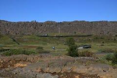 The Mid-Atlantic Ridge in Iceland in thingvellir royalty free stock images
