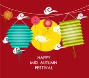 Mid Autumn Festival background with lantern Royalty Free Stock Photos