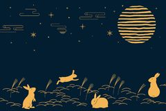 Free Mid Autumn Festival Card Design Royalty Free Stock Image - 151486596