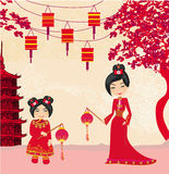Mid-Autumn Festival for Chinese New Year , Abstract card Royalty Free Stock Images