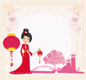 Mid-Autumn Festival for Chinese New Year , Abstract card Stock Photography