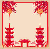 Mid-Autumn Festival for Chinese New Year - frame Royalty Free Stock Images