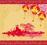 Mid-Autumn Festival for Chinese New Year. Illustration Royalty Free Stock Photo
