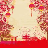 Mid-Autumn Festival for Chinese New Year. Vector Illustration Royalty Free Stock Photography