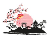 Mid-Autumn Festival for Chinese New Year. Vector Illustration stock illustration