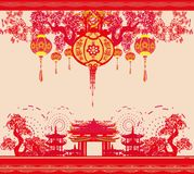 Mid-Autumn Festival for Chinese New Year - frame. Mid-Autumn Festival for Chinese New Year , Vector Illustration Stock Image