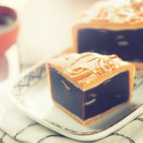 Mid autumn festival foods mooncake Stock Photo