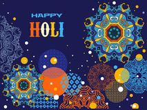 Mid autumn festival. Happy Holi - festival of colors.Traditional Indian festival Holi. Bengali New Year.Template for festive banner, poster. Holiday of spring royalty free illustration