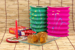 Mid-autumn festival: mooncake Stock Image