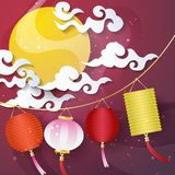 Mid Autumn Festival Vector background Royalty Free Stock Image