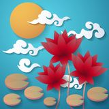 Mid Autumn Festival Vector background Royalty Free Stock Photo