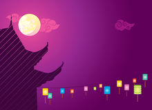 MId autumn full moon background illustration Royalty Free Stock Image
