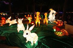 Mid-Autumn Lantern Carnival in Hong Kong royalty free stock photo
