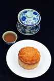 Mid-Autumn moon cake Stock Photography