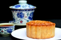 Mid-Autumn moon cake Stock Images
