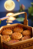 Mid autumn moon cake Stock Images