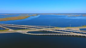 Mid bay. Interstate i-10 mobile bay bayway blue delta highway Royalty Free Stock Photos