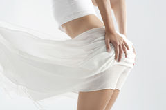 Free Mid Body Section With White Fabric Stock Photography - 25326542
