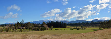 Mid Canterbury Rural Landscape in Winter from Windwhistle War M stock photos