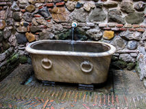 Mid century bathing vessel Royalty Free Stock Photos