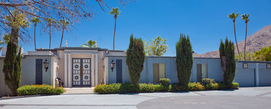 Mid-Century Modern Home. With Hollywood regency design stock photography