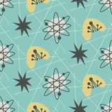 Mid century modern seamless pattern. 1950s vintage style atomic background, retro vector illustration vector illustration