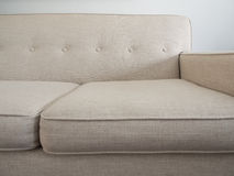 Mid Century Modern Sofa, Beige Color Royalty Free Stock Photos