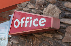 Mid-Century Office sign Royalty Free Stock Images