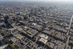 Mid City Los ANgeles Summer Afternoon Aerial Stock Image