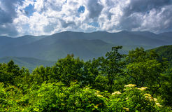 Mid-day view of the Appalachian Mountains from the Blue Ridge Pa Royalty Free Stock Photo